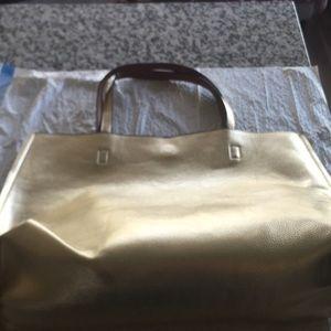 Handbags - Reversible Brown and Metallic Gold Tote. Brand New